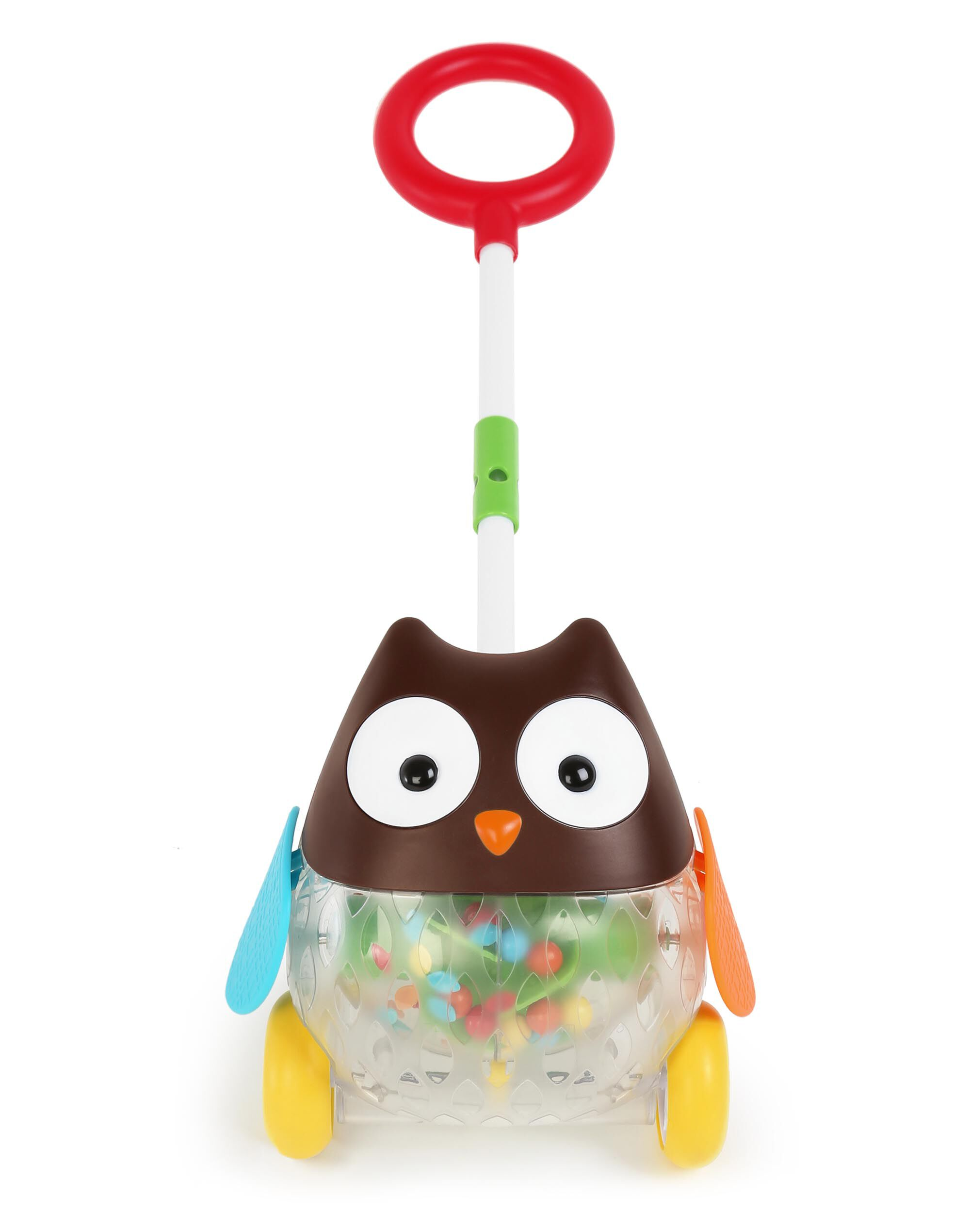 Explore & More Rolling Owl Push Toy