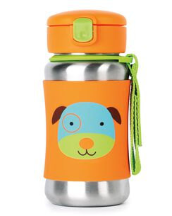Zoo Stainless Steel Little Kid Straw Bottle