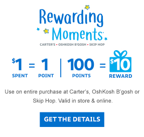 Rewarding Moments. Earn $10 reward for every $100 spent. $1 equals 1 point.