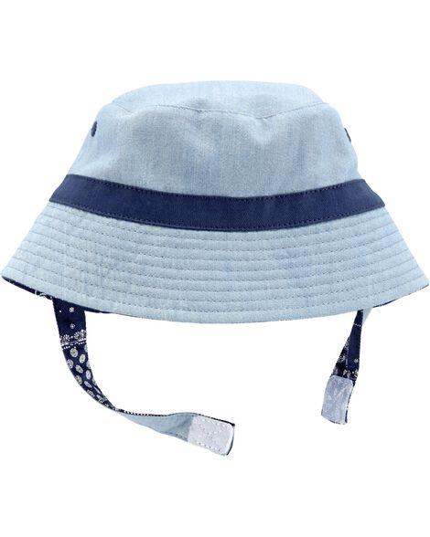 9c0456e58 Reversible Chambray Bucket Hat