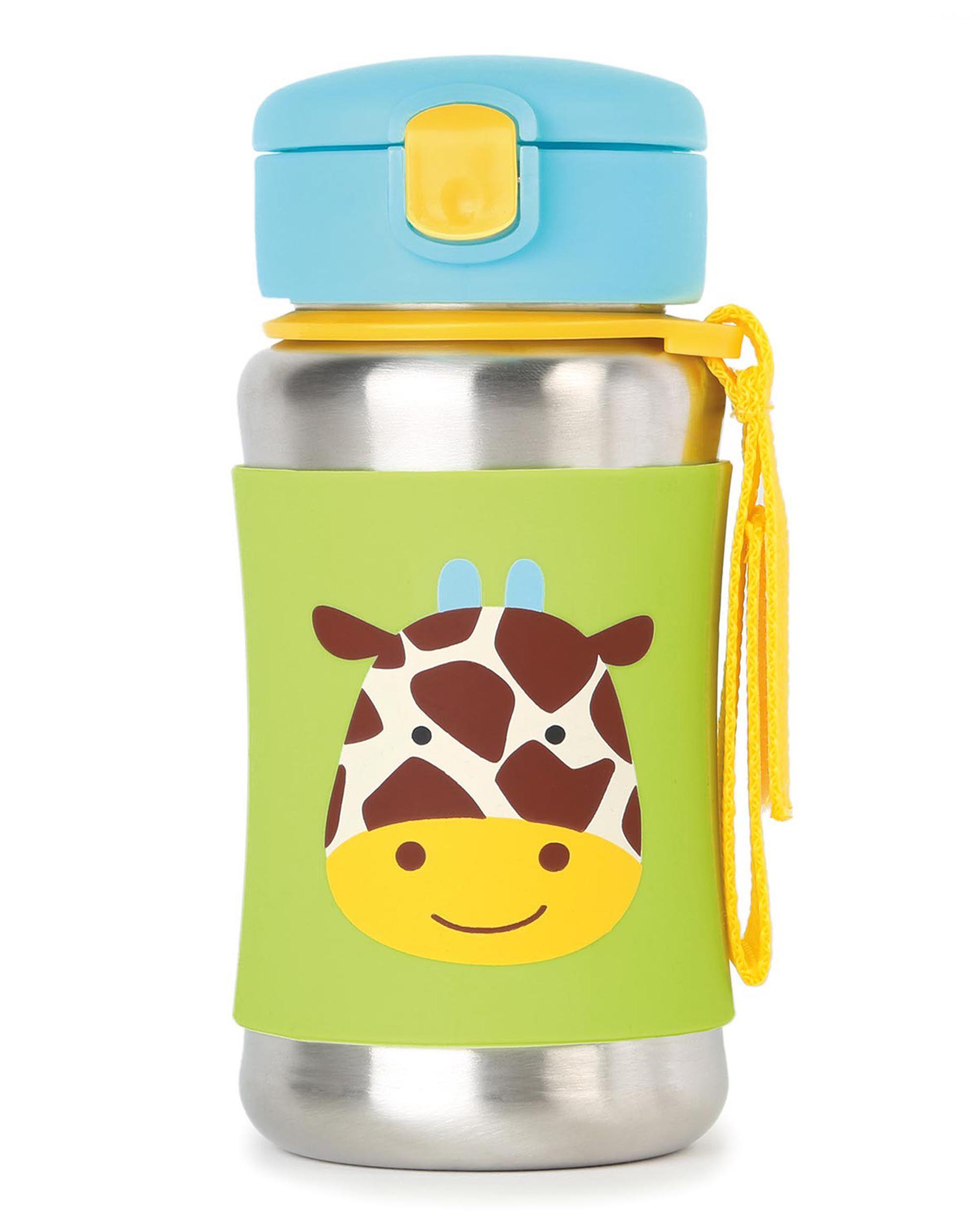 Zoo Stainless Steel Little Kid Straw Bottle