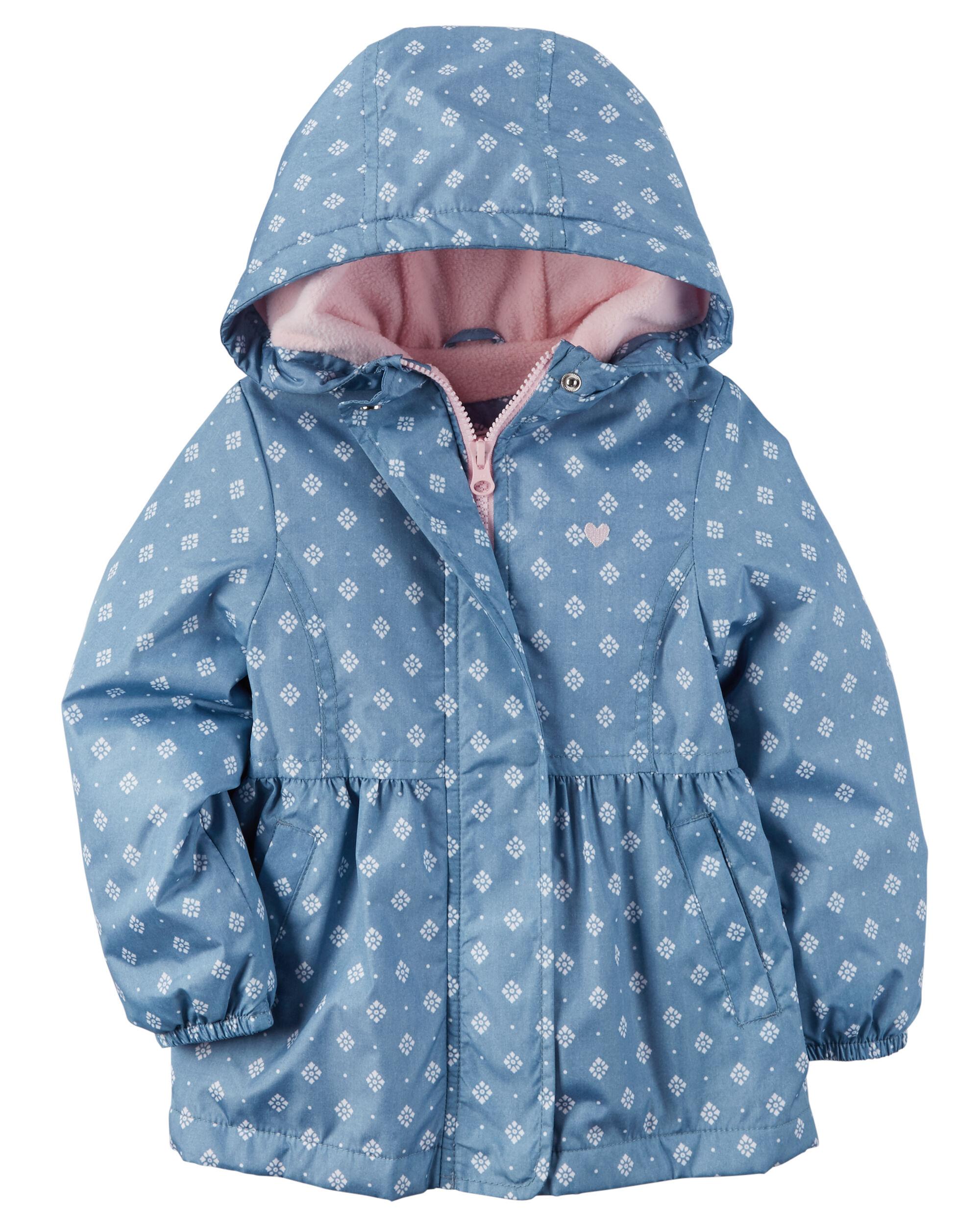 Carter/'s Toddler Girls Pink Midweight Fleece Lined Windbreaker Size 2T 3T 4T $50