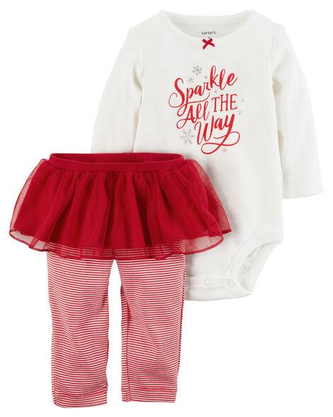 d37847024 Images. 2-Piece Christmas Bodysuit & Tutu Pant Set