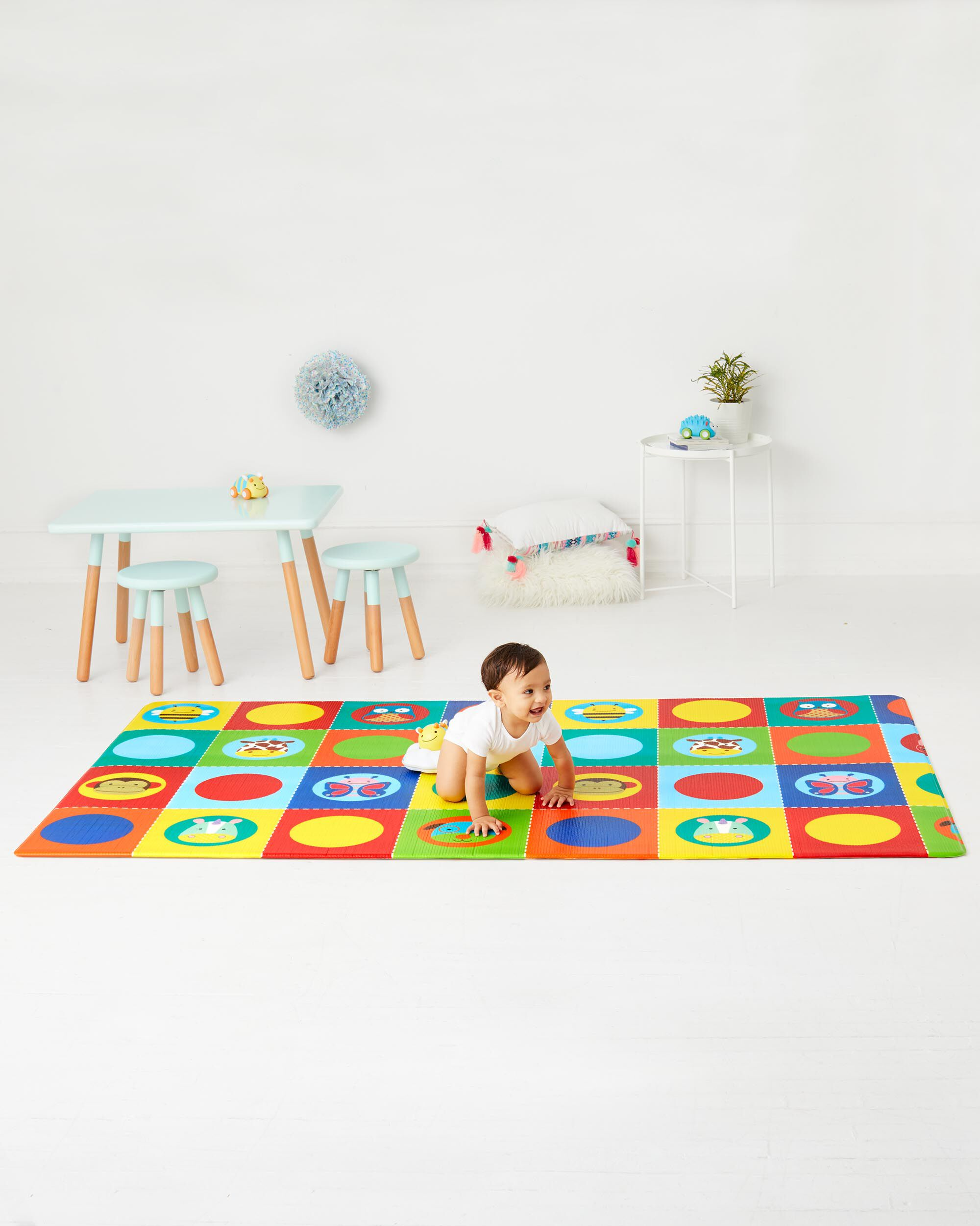 Doubleplay Reversible Playmat Zoo Skiphop Com