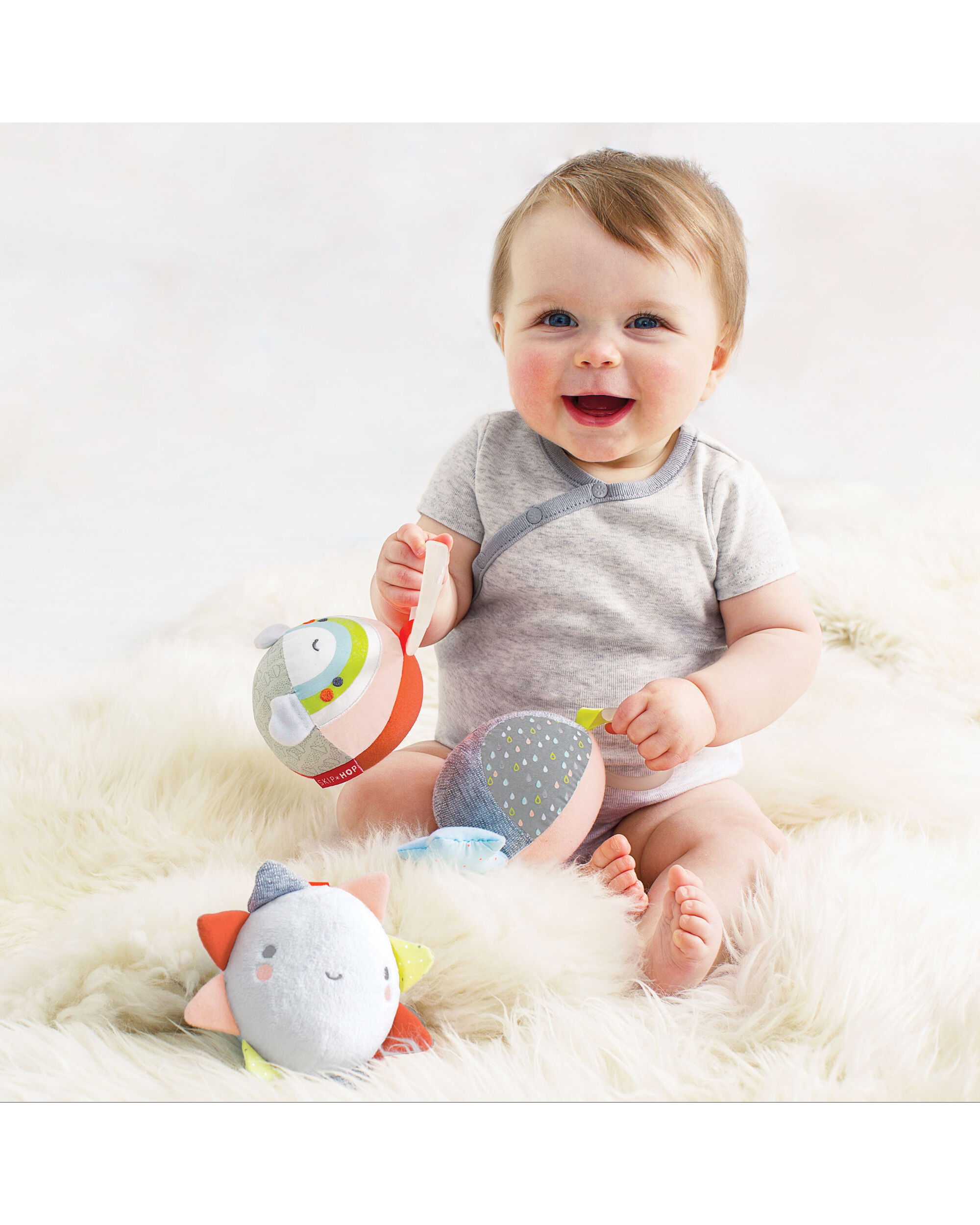 Silver Lining Cloud Ball Trio Baby Toy | Skiphop.com