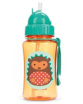 Zoo Straw Bottle, Hedgehog, hi-res