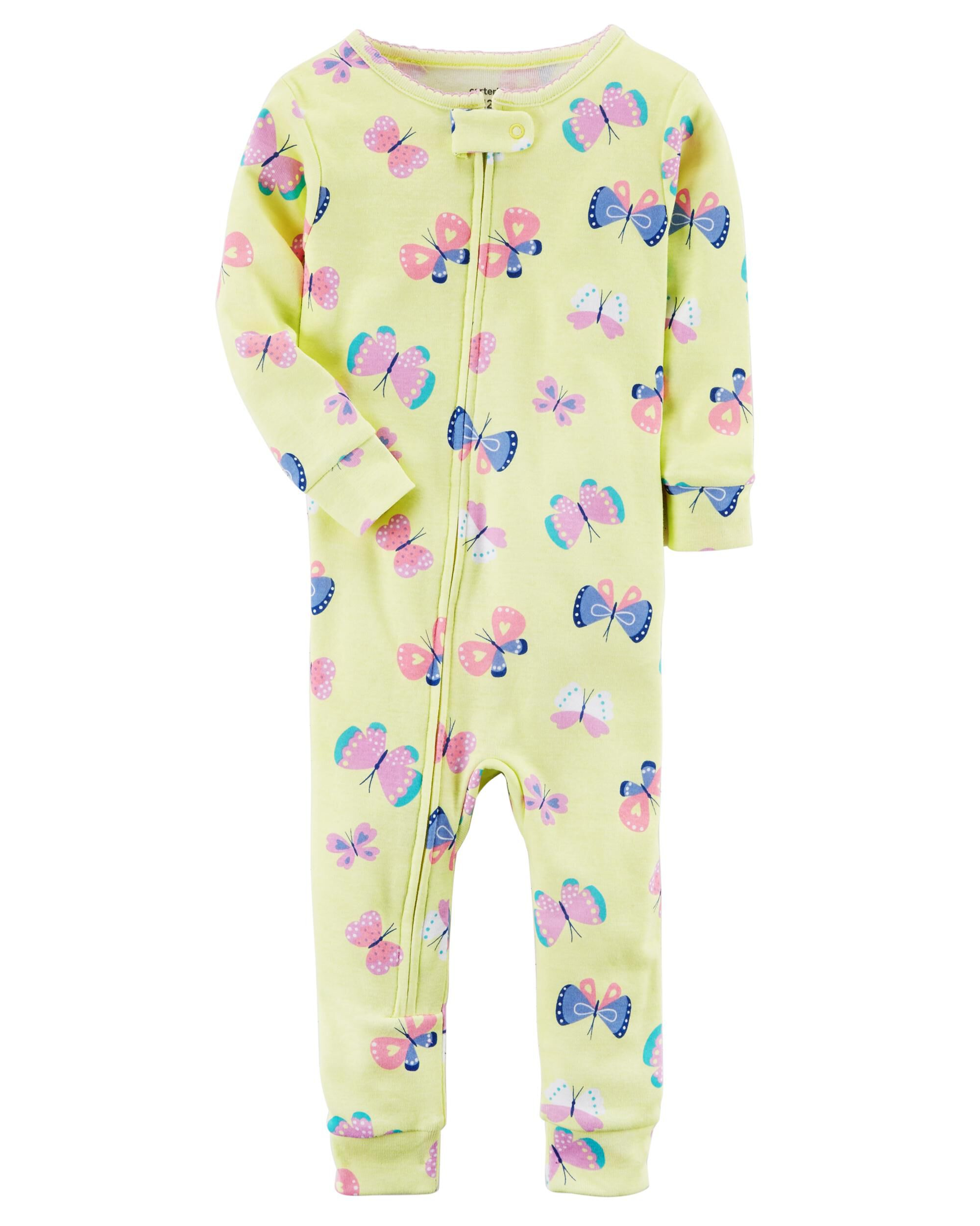 411123bfd2 1-Piece Snug Fit Cotton Footless PJs. Loading zoom