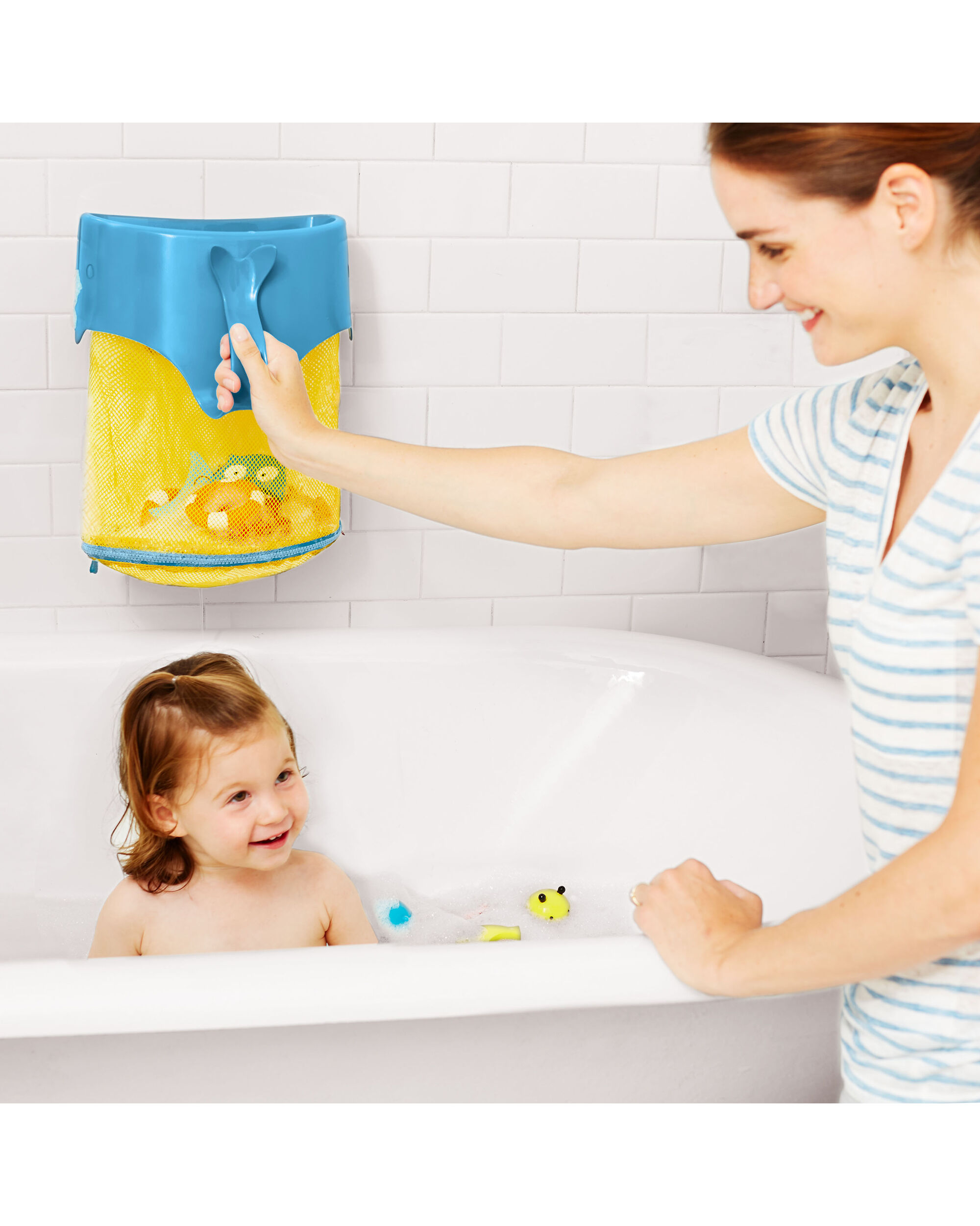 Moby Scoop & Splash Bath Toy Organizer | Skiphop.com