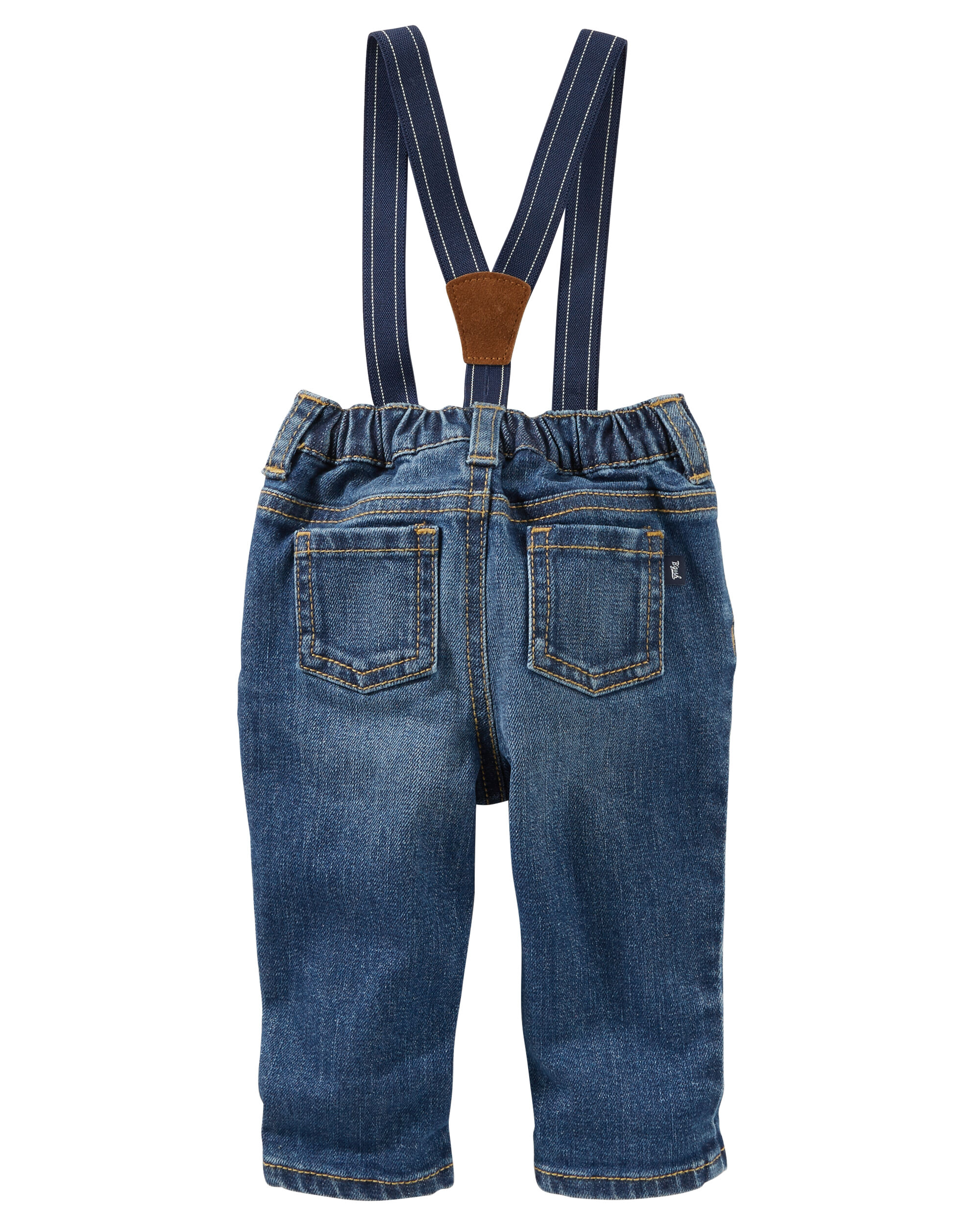 OshKosh BGosh Baby Boys 3M-24M Derby Wash Suspender Jeans