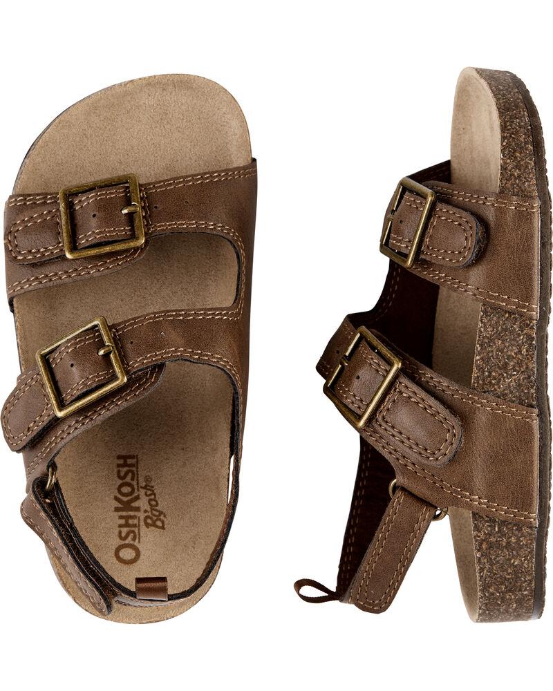 9-12 yr Osh Kosh Toddler Boys Brown Adjustable Faux Leather Belt