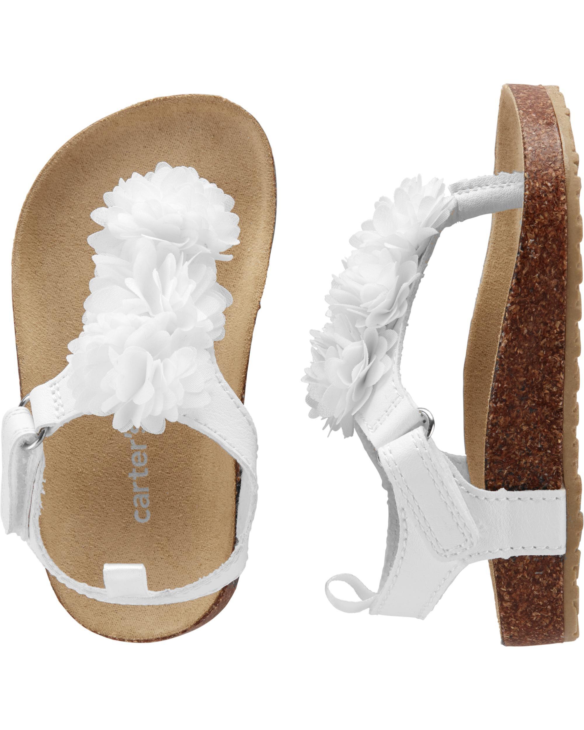 Carter's Floral Cork Sandals | skiphop.com
