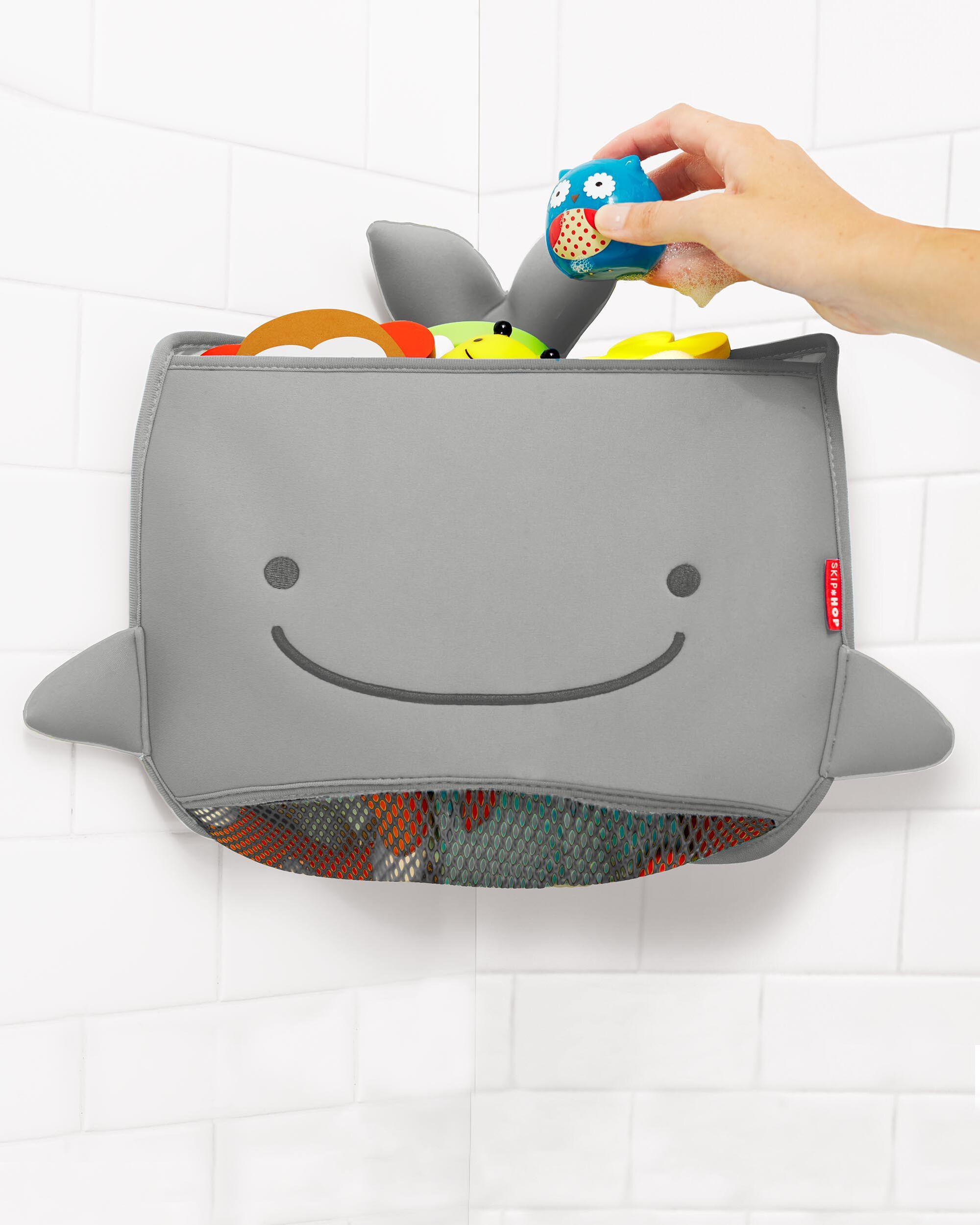 Moby Corner Bath Toy Organizer - Grey | Skiphop.com