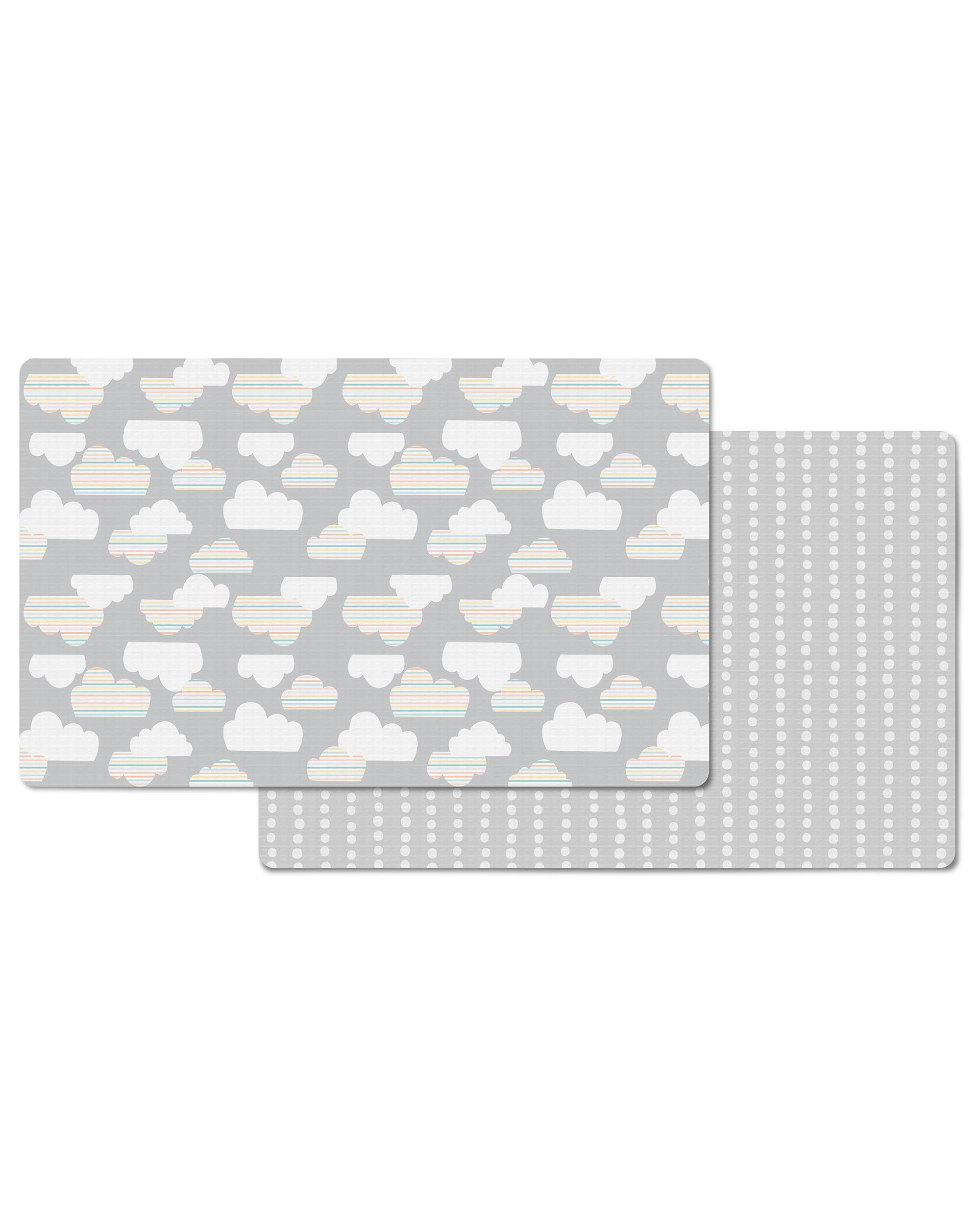Doubleplay Reversible Play Mat Clouds Skiphop Com
