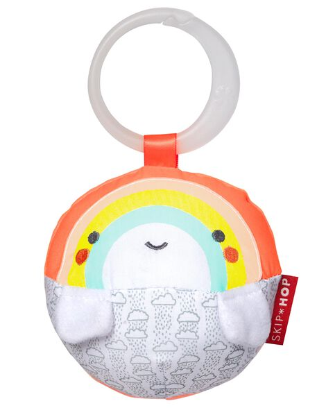 Silver Lining Cloud Rattle Ball - Rainbow