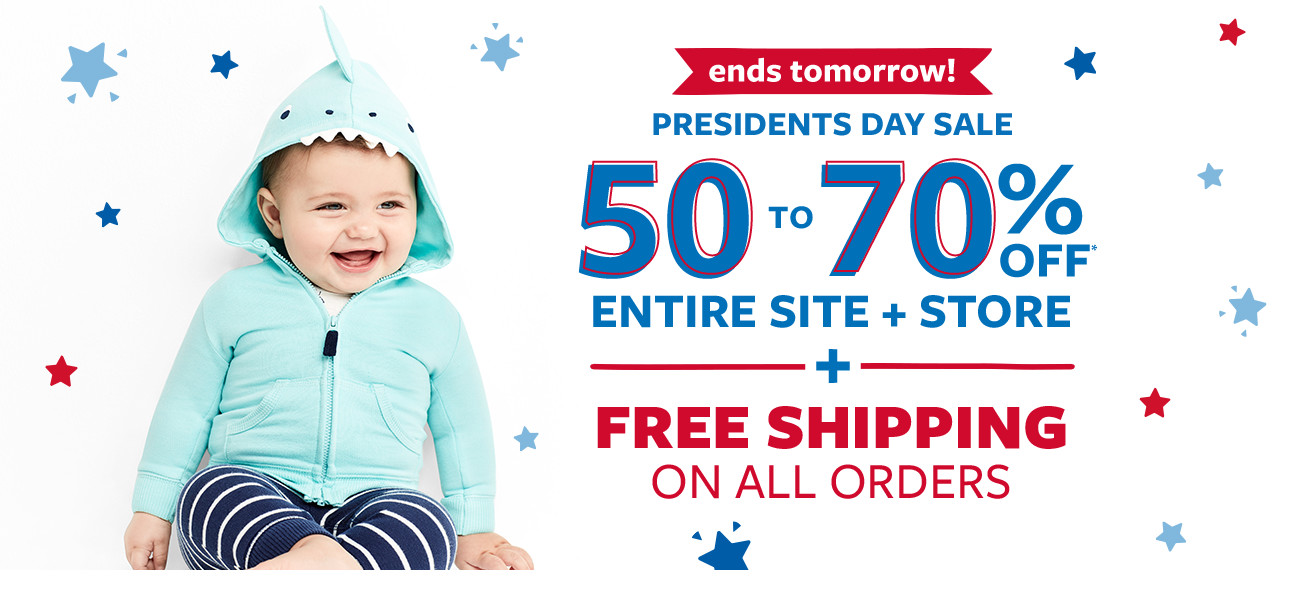 ends tomorrow | be first. get the best! presidents day sale | 50 to 70% off msrp entire site + store + free shipping on all orders