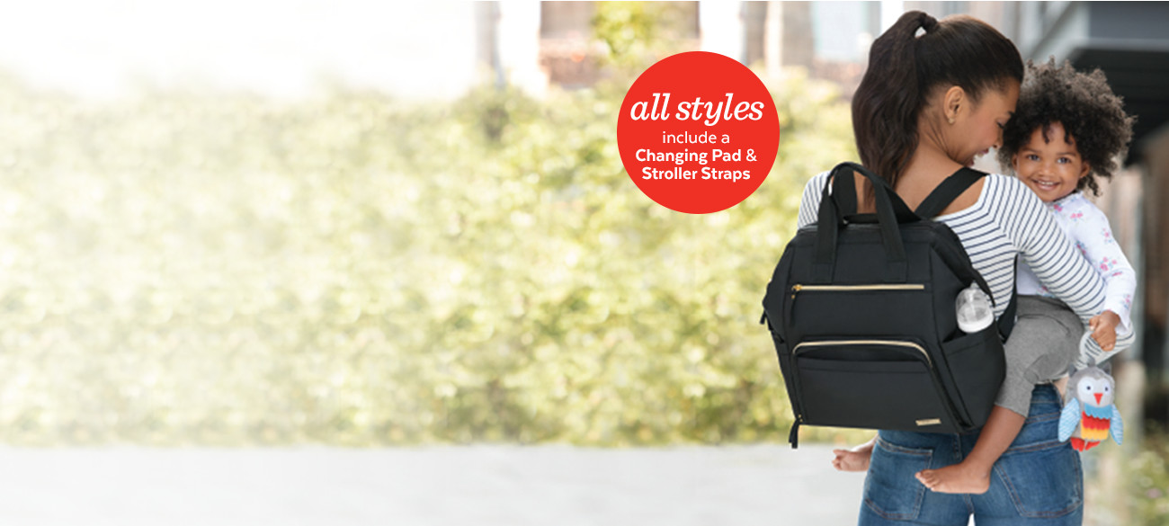 destination diaper bags Welcome to your one-stop shop for the best daper bags and backpacks. Packed with functional extras to make life easier, Skip Hop's fashion forward styles are smartly designed to handle all the essentials for baby (and you).