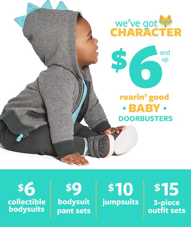 Roarin' Good Baby Doorbusters $6 and Up