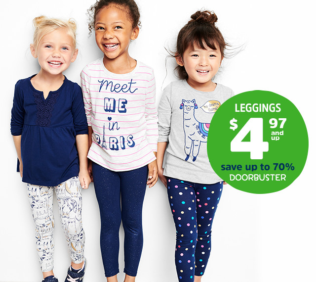LEGGINGS $4.97 and up | save up to 70% | DOORBUSTER