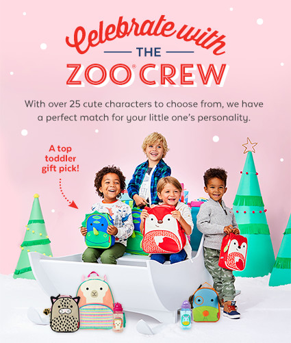 Celebrate with the ZOO Crew   Check out our entire ZOO collection! With over 25 cute characters to choose from, we have a perfect match for your little one's personality.