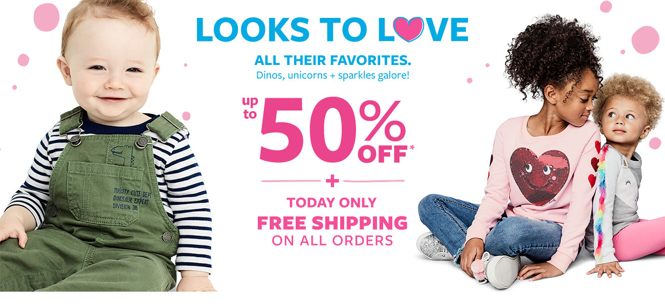 looks to love | all their favorites up to 50% off msrp + today only free shipping on all orders