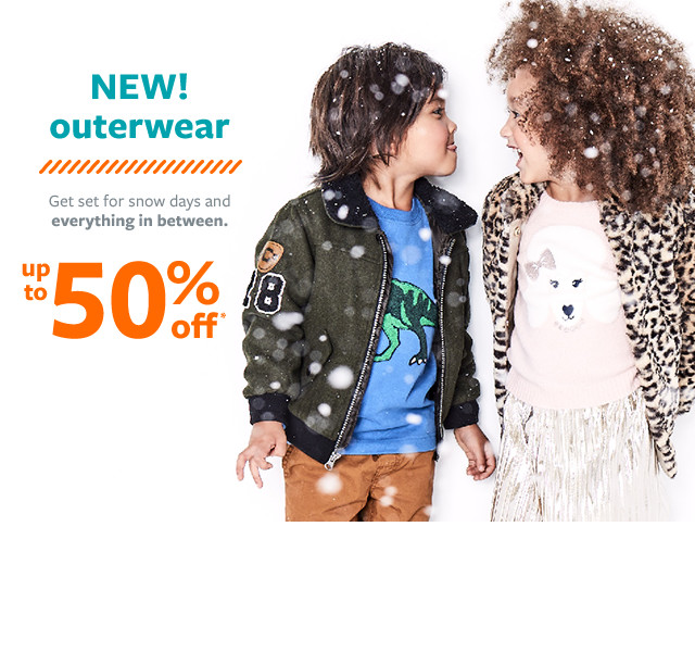new outerwear up to 50% off msrp