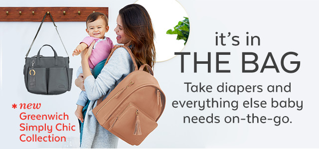 it's in the bag take diapers and everything else baby needs on the go.