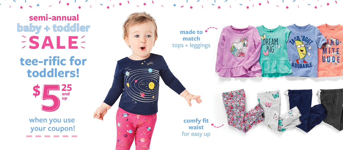 semi-annual baby + toddler sale   lowest prices of the season!   $7 doorbuster sleep and play