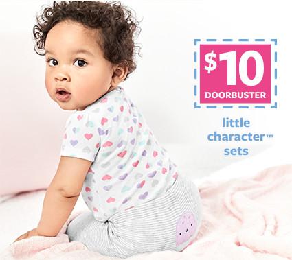 $10 doorbusters   little character sets
