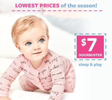 lowest prices of the season   $7 doorbusters slepe and play