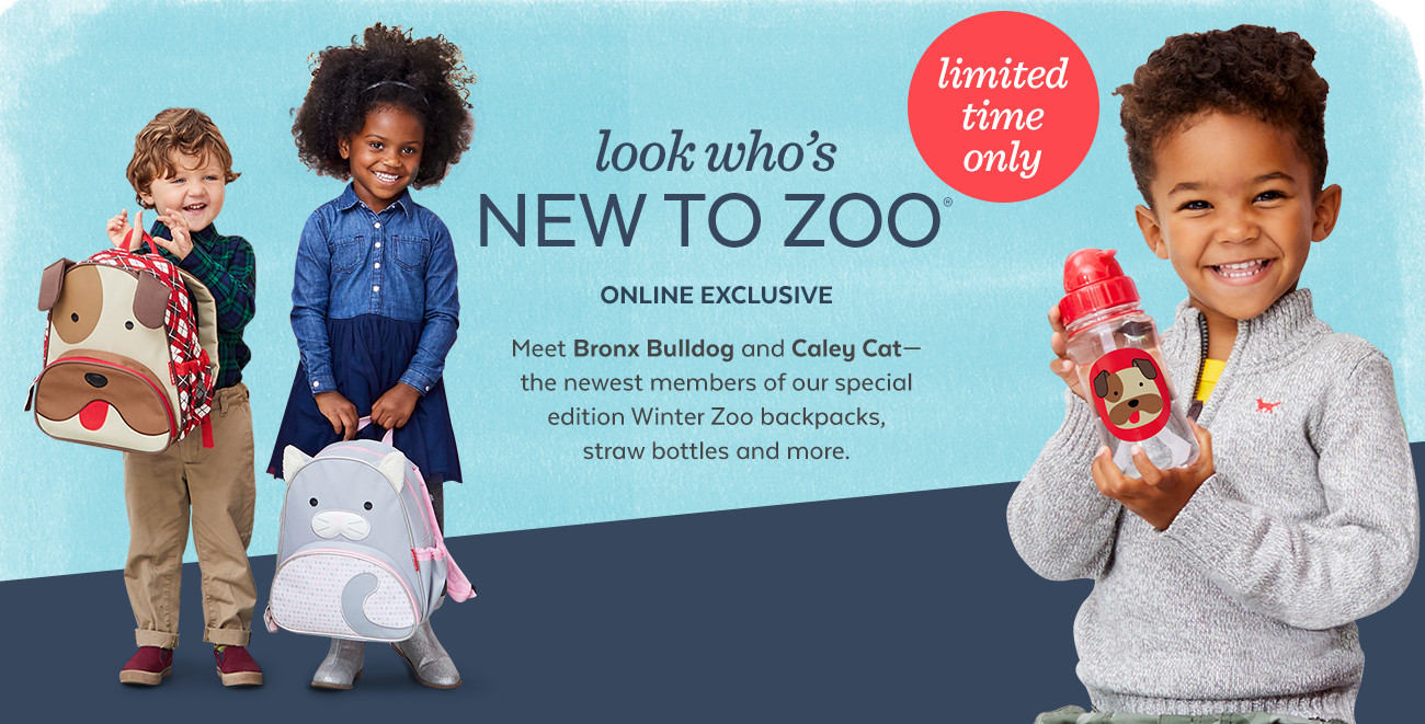 look who's NEW TO ZOO   ONLINE EXCLUSIVE   Meet Bronx Bulldog and Caley Cat-   the newest members of our special edition Winter Zoo collection!   limited time only