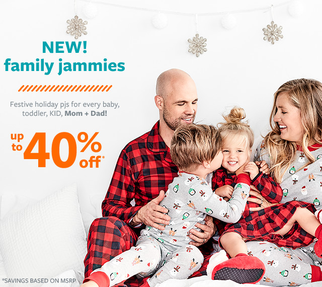 new family jammies up to 40% off msrp