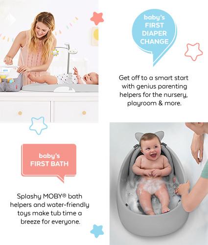 First diaper change   baby's first bath