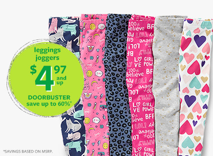 leggings | joggers $4.97 and up