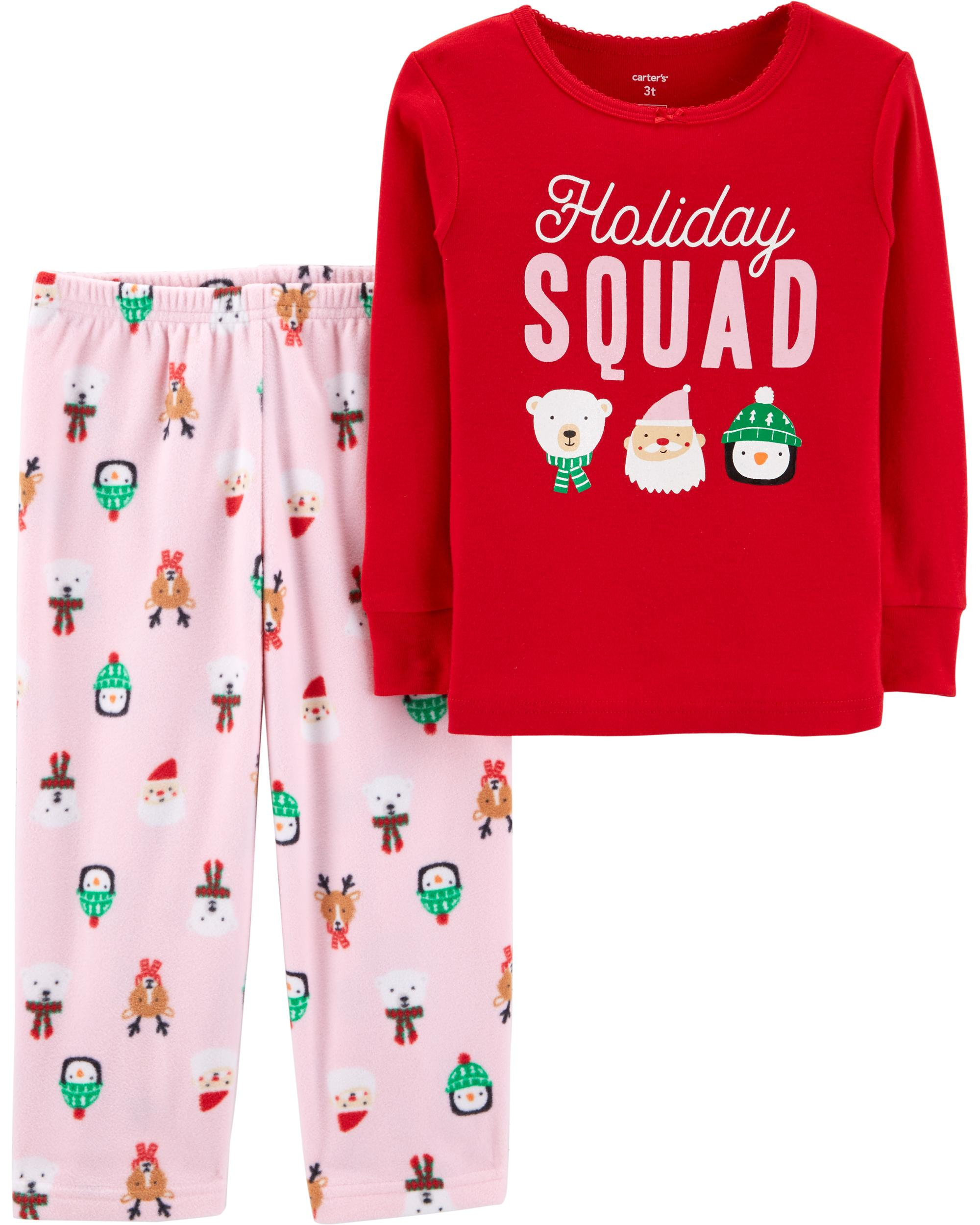 Toddler Christmas Pajamas.2 Piece Toddler Christmas Cotton Fleece Pjs Skiphop Com